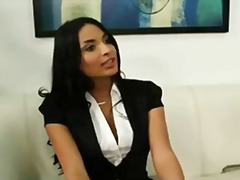 Busty anissa kate gets bent over the desk and fucked for a job.