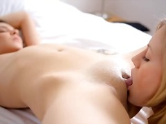 Russian girl4girl deep toying pussies.