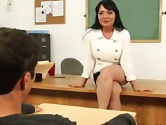big tit teacher mahina zaltana gets fucked on her desk by her student.