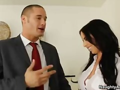 Hot secretary with big pierced tits brandy aniston gets fucked by her boss.