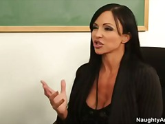 Big tit college professor jewels jade gets student to lick her pussy.