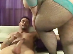 Pretty plumper fucked from behind.