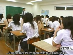 Subtitled shy japanese schoolgirls enf cmnf nude school.