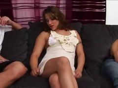 Oznake: dve ženski in moški, analno, mehičanka, naravne prsi.