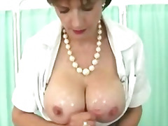 Busty wife gets tittyfucked by lucky stanger .