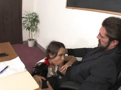 Pigtailed cutie fucking her professor!.