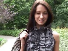 Eroberlin russian topmodel maria open public up skirt long hair.