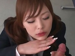 Schoolgirl blowjob for a small cock.