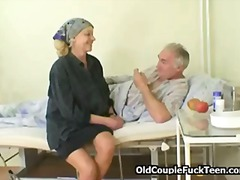 Grandpa fucks hot slutty nurse.