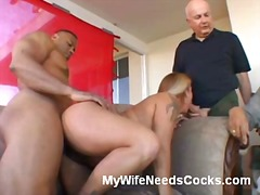 Blonde wife gives amazing oral.
