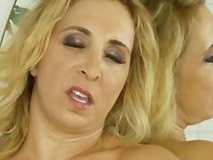 Huge natural tits and tight cougar pussy.
