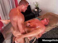 Sexy gay stud blows penis and gets his oiled ass hole destroyed.
