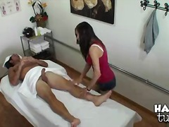 Sexy asian masseuse arial rose with.