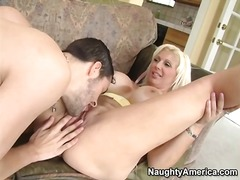 Blown by slutty mom with huge fake tits.