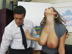 beautiful secretary chick with awesome huge.