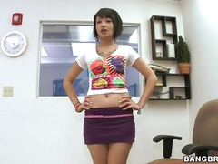 this naughty asian brunette teen came.