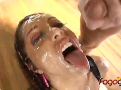 Francesca le 12 man blowbang.