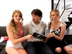 Livegonzo jessie andrews & julia ann sweet teen & milf threesome.