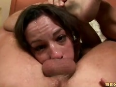 rough messy facefuck with porn whore amber rayne.