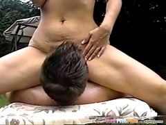Backyard sex with milf colette.