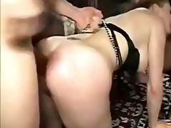 Audrey gets her holes stuffed dp and double anal.