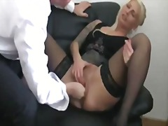 Fisting my bitch boss till she squirts.