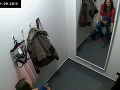 Beautiful czech teen snooped in changing room!.