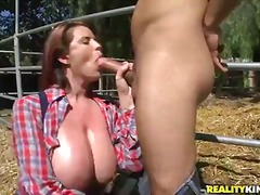 Busty and arousing redhead cowgirl lisa.