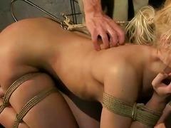 Sex slave getting punished pretty hard.
