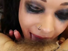 Bobbi starr is busy with making.