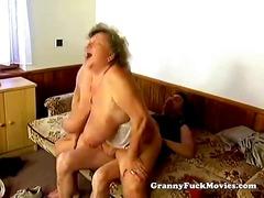 Huge grandma pounding hard.