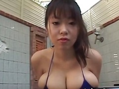 Hot brunette asian hoe with big juggs part1.