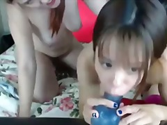 Asia zo - anal toys with andrea sky.