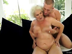 blonde granny with extremely hairy brunette pussy fucking with neighborhood boyfriend.