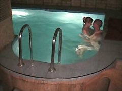 Naked couple fuck in the swimming pool in steamy hidden porn xxx.