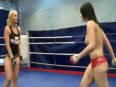 Aagell summers and kathia nobili excited babe wild fight.