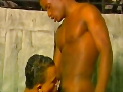 Gay dark buff thugs fucking having fun with hot guy black black guys sucking cock .
