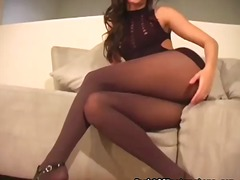 cameltoe of trimmed pussy.