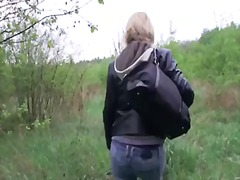 slutty meggie prefers to swallow big cocks on fresh air.