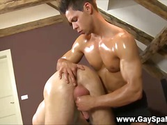 Hard dick straighty gets ass fingered.
