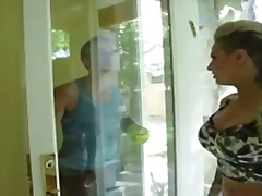 Dirty girl christy mack gets her ass licked by her friends husband.