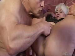 Beautiful grannie dana hayes is having sex.
