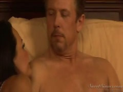 naked woman lisa ann spreads legs and feels how this lucky guy tom byron starts playing with her pussy by tongue. you would wish to be on his place and to lick this tw....
