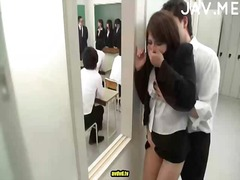 hot japanese babe gets bush wrecked.
