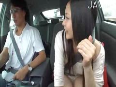 علامات: خارج المنزل, يابانيات, في السيارة, نكاح اليد.