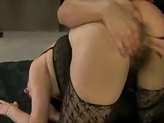 Sexy sensational lesbian babes have a splendid time as they play with cunt and lick ass.
