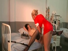 Hot nurse punishing her patient.
