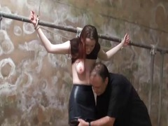 Filthy slaveslut whipping and dirty dungeon tortur.