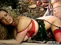Big-boobed blonde gets cum on her breasts... this video is presented by milf vidz.