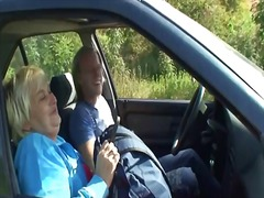 Granny is picked up from the road and fucked.